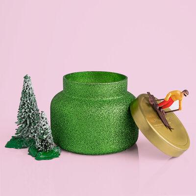 Alpine Juniper Glam Signature Jar, 19 oz in forest landscape