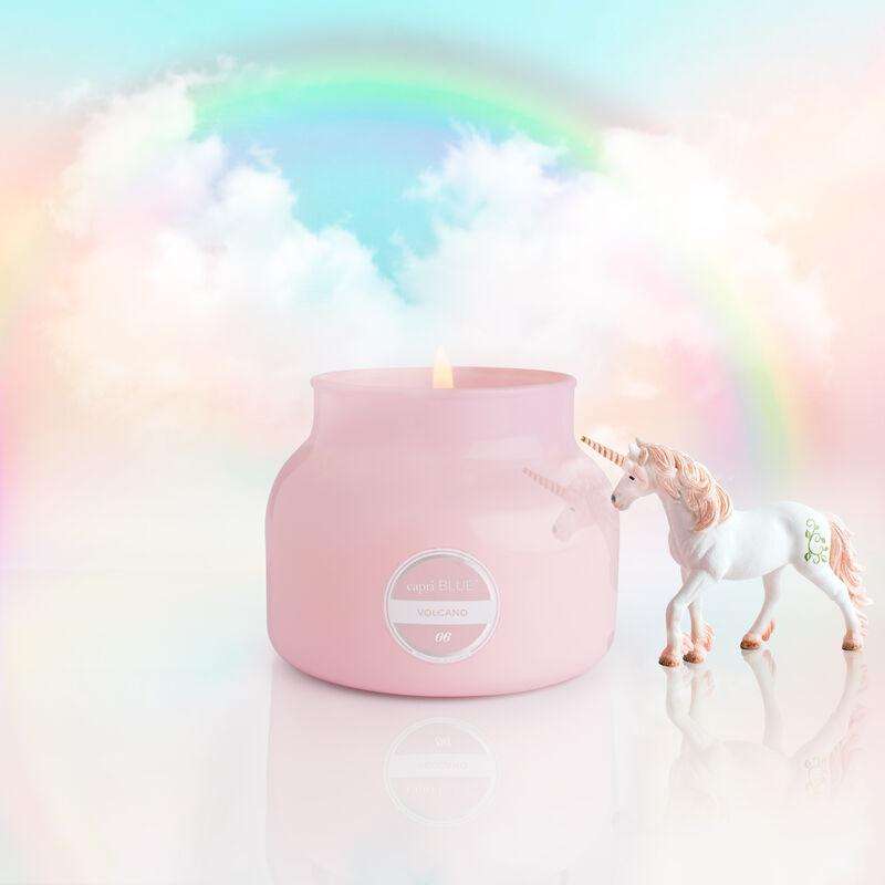 Volcano Bubblegum Petite Candle Jar, 8 oz product with fantasy background image number 3