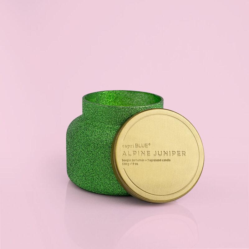 Alpine Juniper Glam Signature Jar, 19 oz product with lid off image number 3