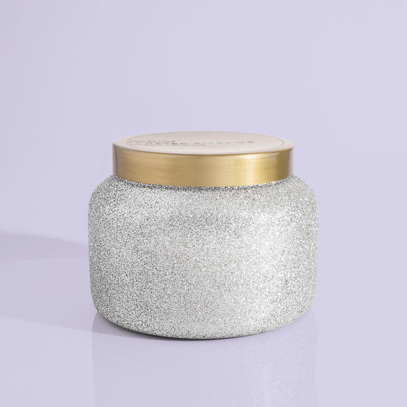 Frosted Fireside Glam Jumbo Candle Jar, 48 oz product view image number 0