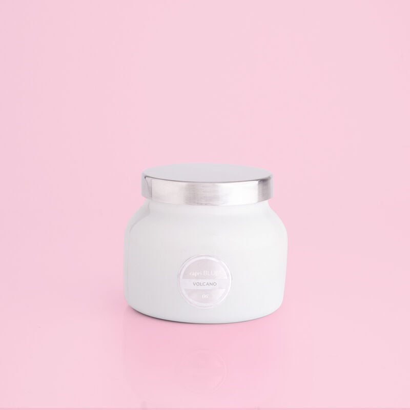 Volcano White Petite Candle Jar, 8 oz product view image number 0