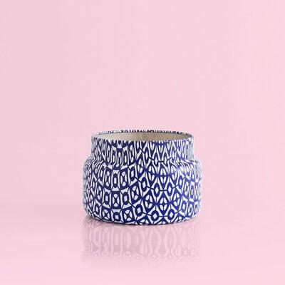 Modern Mint Printed Candle Tin, 8.5oz no lid