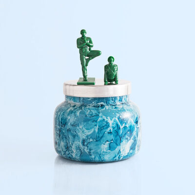 Capri Blue Rain Watercolor Signature Jar, 19 oz with surprise