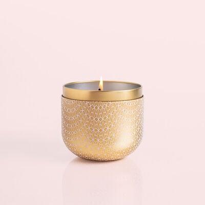 Exotic Blossom & Basil Gilded Tin, 12.5 oz Product burning