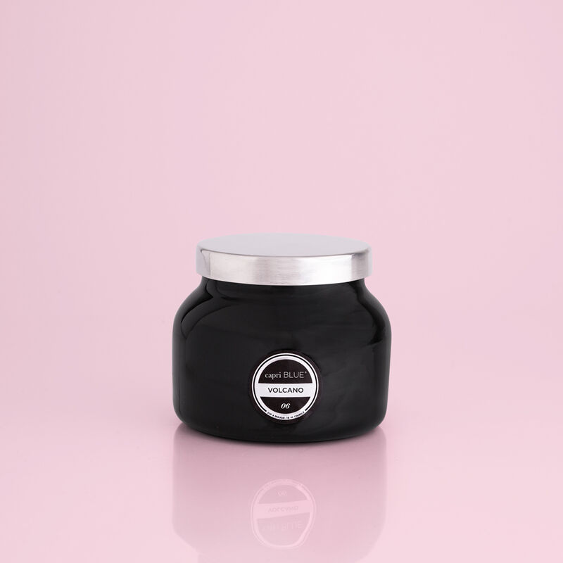 Volcano Black Petite Candle Jar, 8 oz product view image number 0
