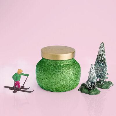 Alpine Juniper Glam Petite Jar, 8 oz product in winter snowscape