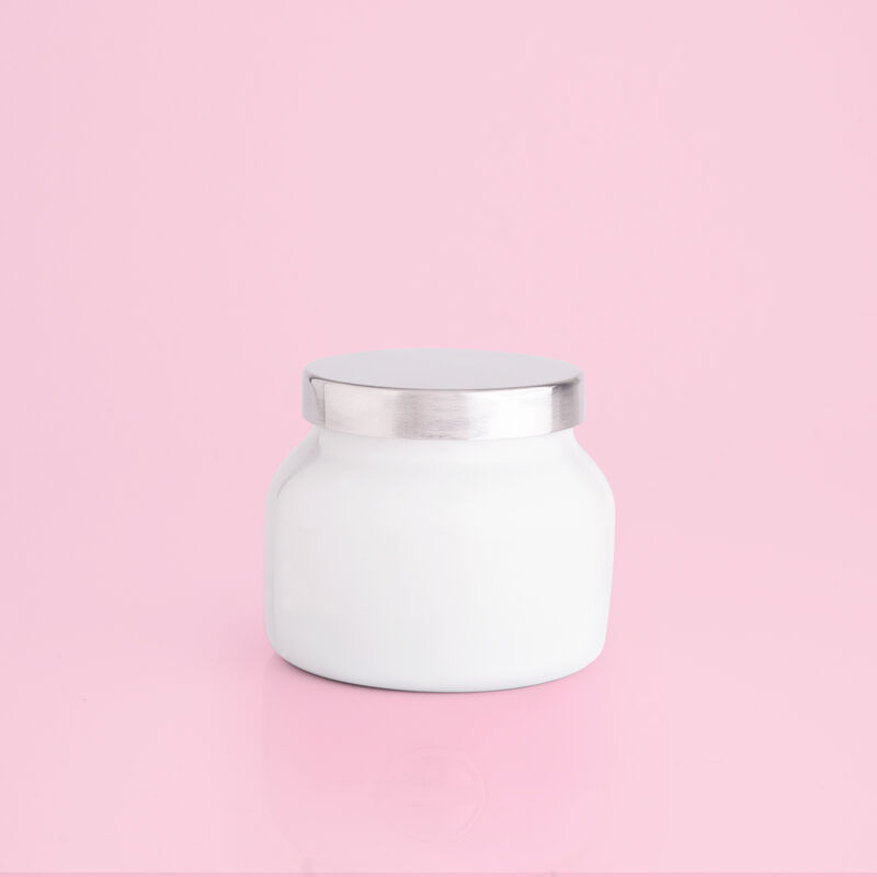 Volcano White Petite Candle Jar, 8 oz rear product view image number 2