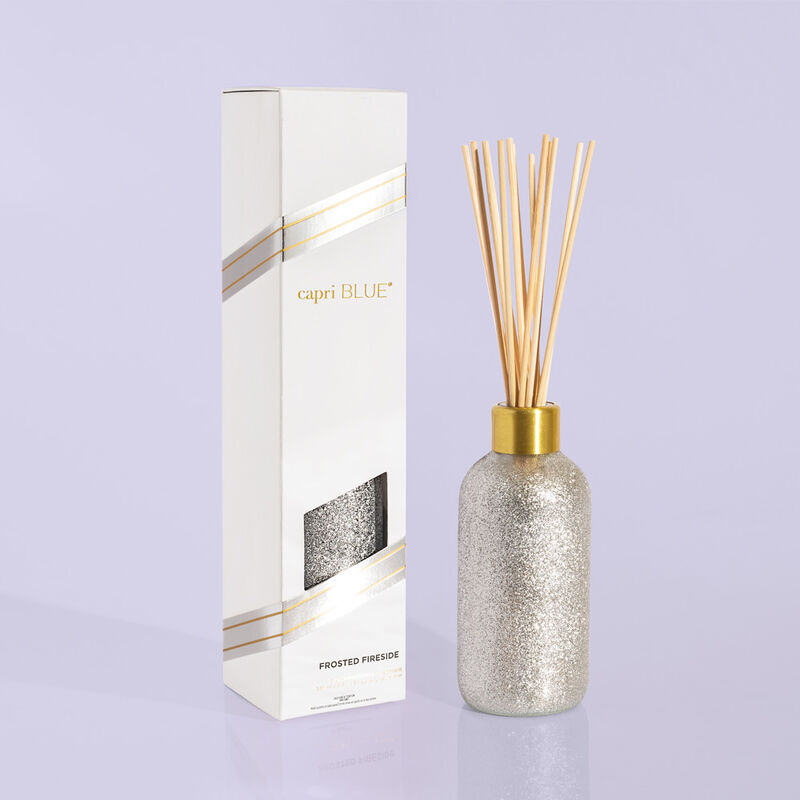 Frosted Fireside Glam Reed Diffuser product outside of box image number 0