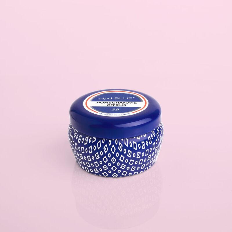 Pomegranate Citrus Blue Mini Candle Tin, 3oz product view image number 0