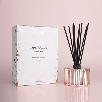 Pink Grapefruit & Prosecco Gilded Reed Diffuser, 7.75 fl oz