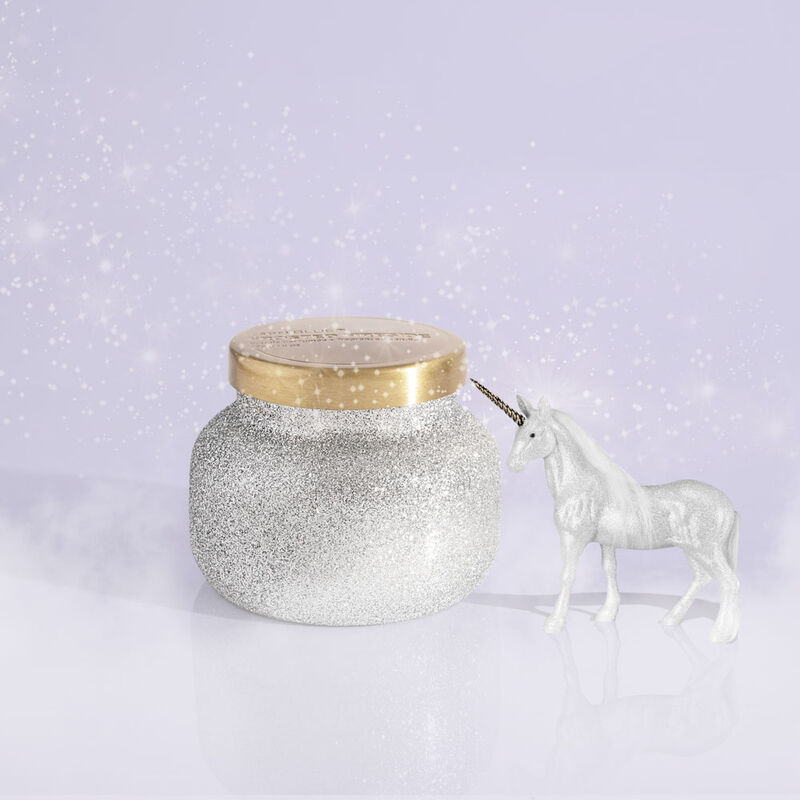 Frosted Fireside Glam Petite Candle Jar, 8 oz Surprise Winter Lanscape image number 1