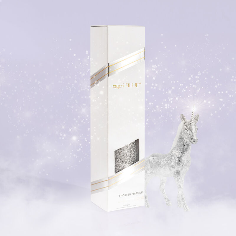 Frosted Fireside Glam Reed Diffuser product with unicorn image number 1