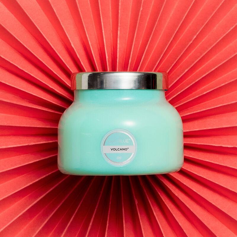 Volcano Aqua Petite Signature Candle Jar, 8oz product on fan background image number 3