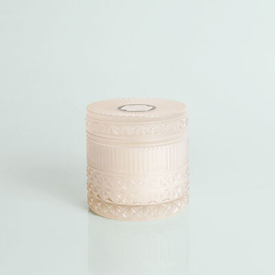 Modern Mint Faceted Candle Jar, 11 oz Candle with Lid Alt View