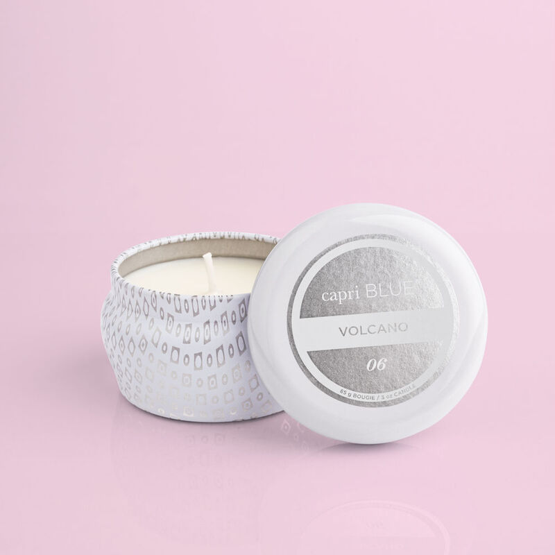 Volcano White Mini Tin, 3 oz product with lid off image number 2