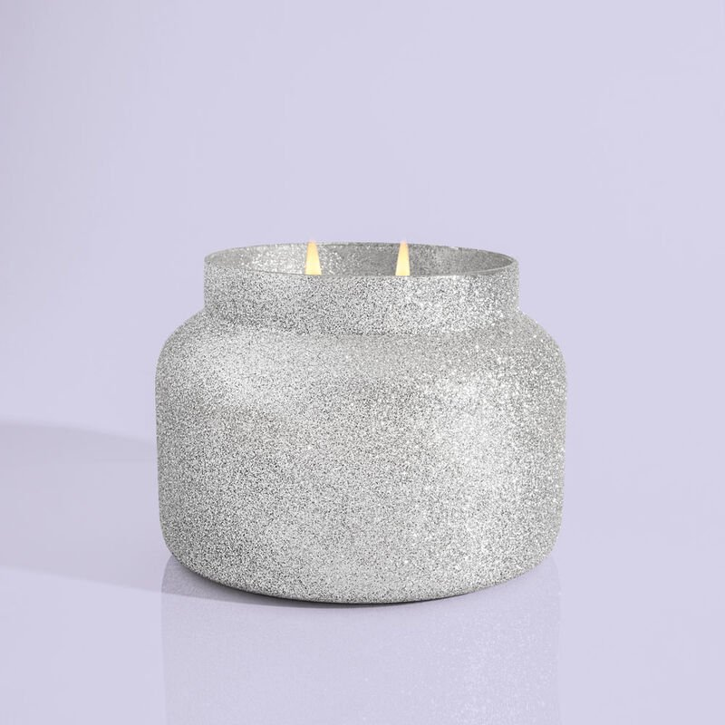 Frosted Fireside Glam Jumbo Candle Jar, 48 oz product with no lid image number 2