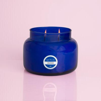 Volcano Blue Jumbo Candle Jar, 48 oz When Burning