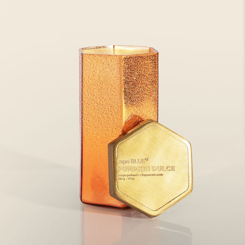 Pumpkin Dulce Glitz Hexagon Candle, 17oz Alt Product View image number 1