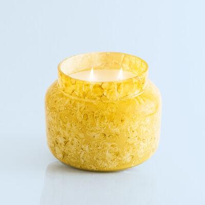 Aloha Orchid Watercolor Jumbo Candle Jar, 48 oz product when lit