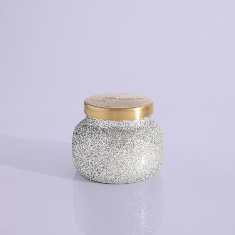 Frosted Fireside Glam Petite Candle Jar, 8 oz Product View image number 0