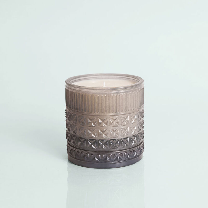 Rain Faceted Candle Jar, 11 oz Candle without lid not burning image number 2