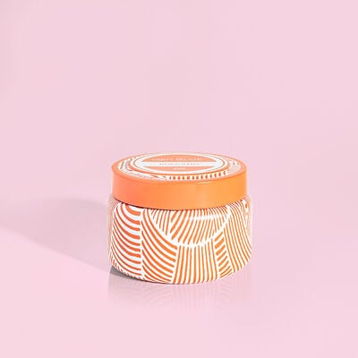 Volcano Tangerine Printed Travel Tin 8.5 oz
