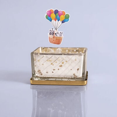Pomegranate Citrus Mercury Jewel Box Candle, 4oz with Surprise Toy