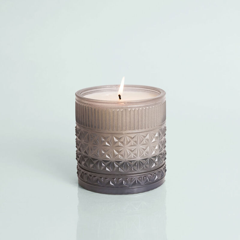 Rain Faceted Candle Jar, 11 oz Candle burning image number 3
