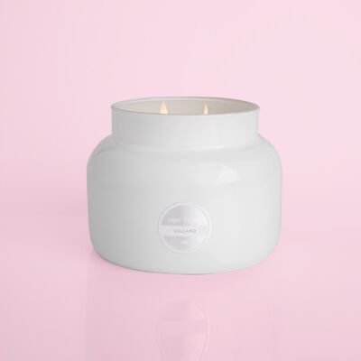 Volcano White Jumbo Jar, 48 ozproduct when lit