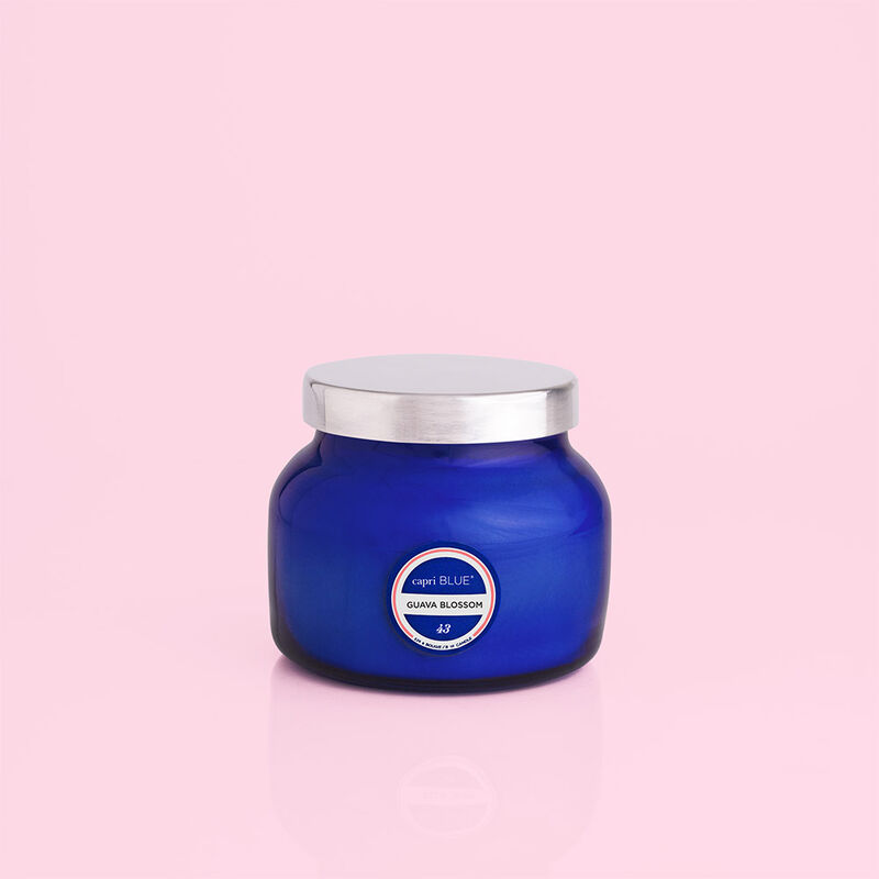 Guava Blossom Blue Petite Candle Jar Fun image number 2
