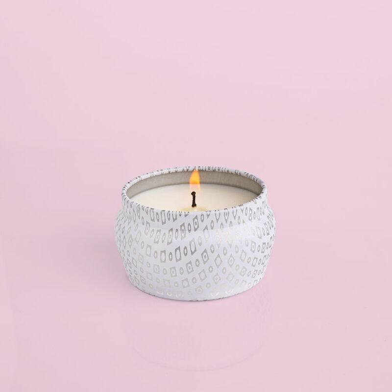 Volcano White Mini Tin, 3 oz product when lit image number 1