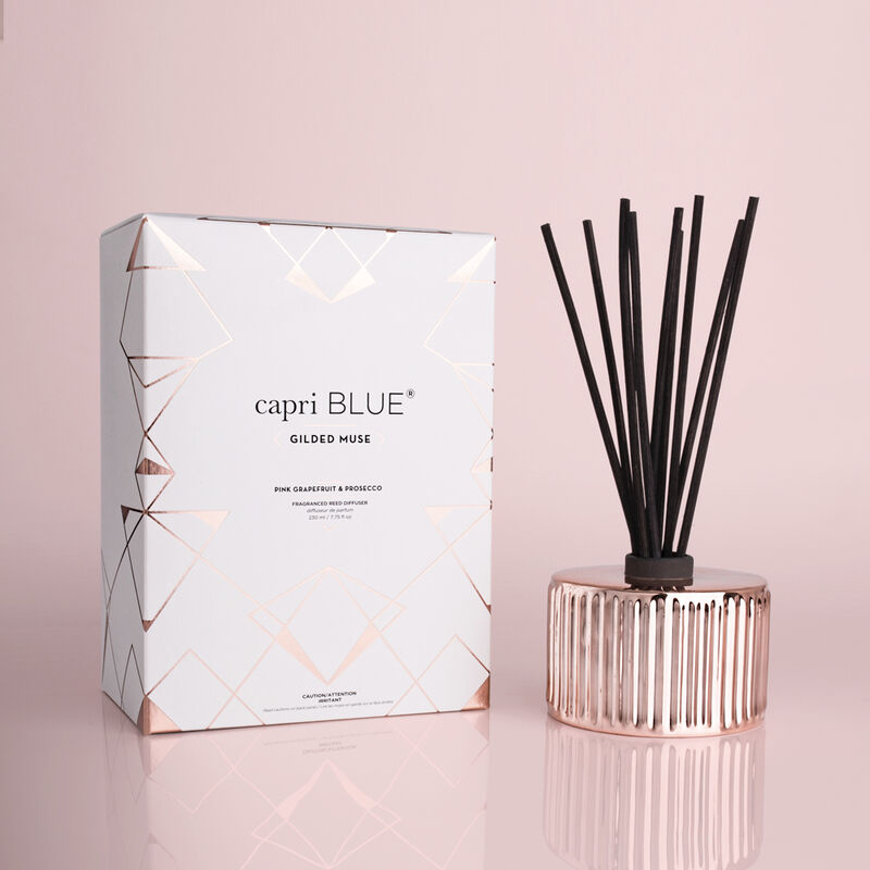 Pink Grapefruit & Prosecco Gilded Reed Diffuser, 7.75 fl oz with Box image number 0