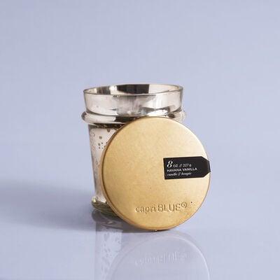 Havana Vanilla Mercury Found Candle Glass, 8 oz with Lid Off
