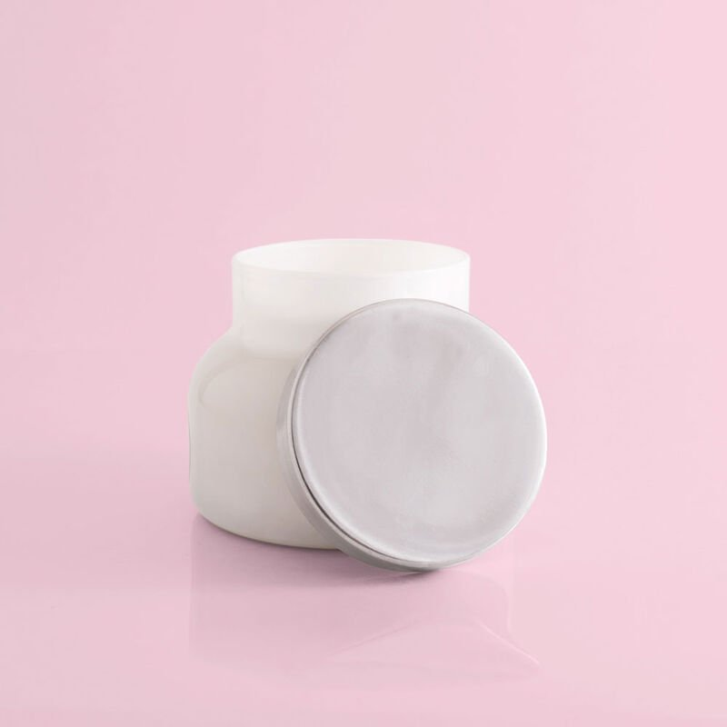 Volcano White Signature Candle Jar, 19 oz product with lid off image number 3