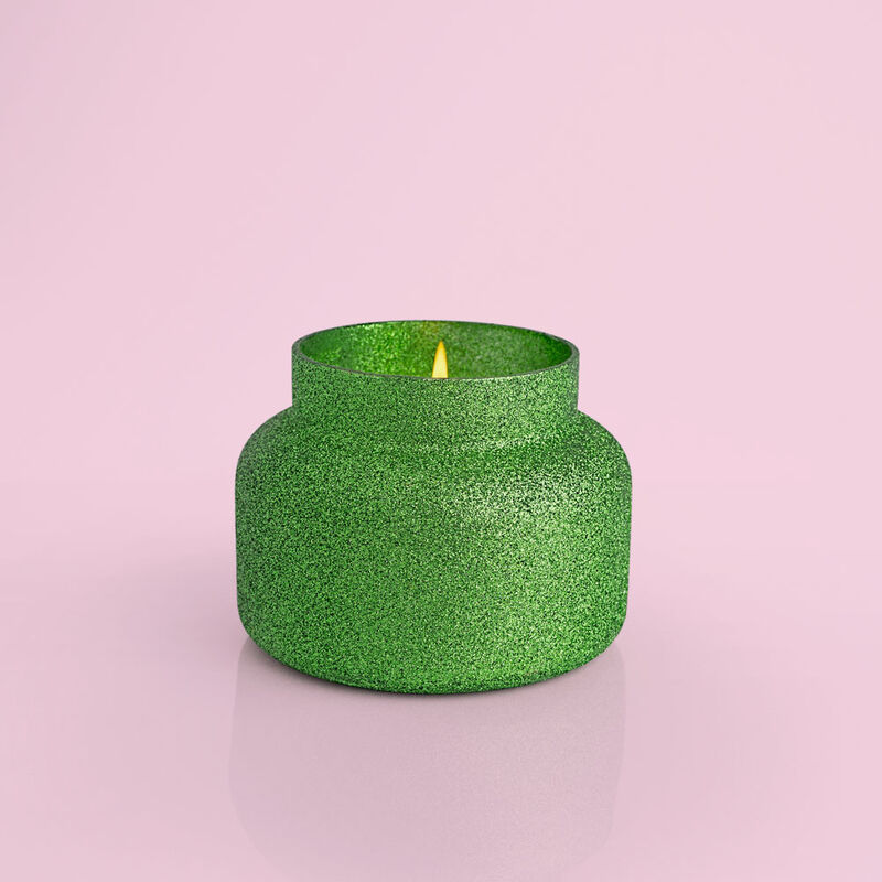 Alpine Juniper Glam Signature Jar, 19 oz product when lit image number 2