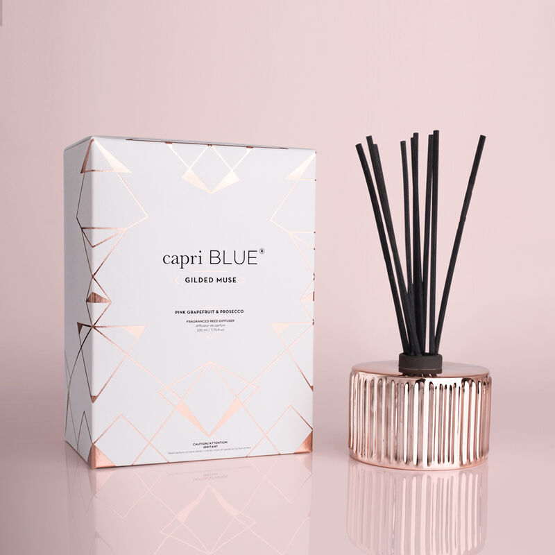 Pink Grapefruit & Prosecco Gilded Reed Diffuser, 7.75 fl oz with Box Alt Shot image number 1