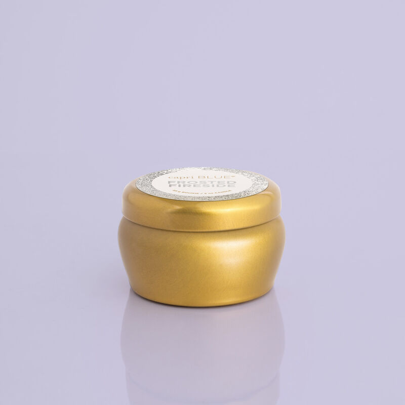 Frosted Fireside Glam Mini Candle Tin product view image number 0