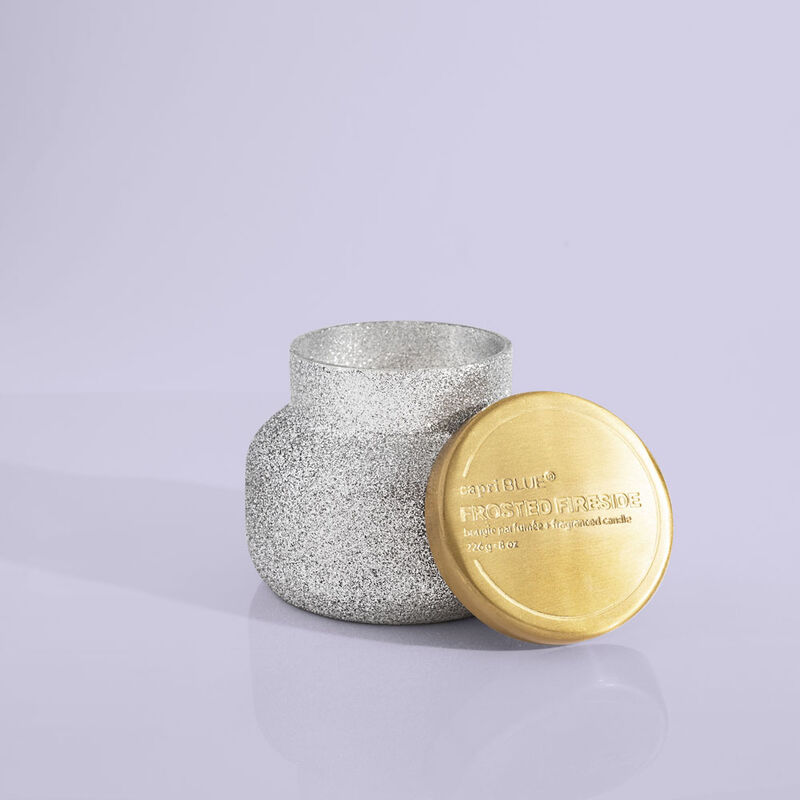 Frosted Fireside Glam Petite Candle Jar, 8 oz with Lid image number 3