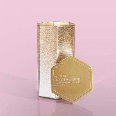 Crystal Pine Glitz Hexagon Candle, 17 oz Alt Product View