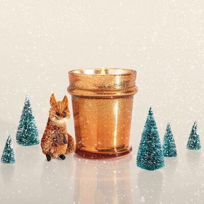 Pumpkin Dulce Glitz Found Glass Candle Surprise
