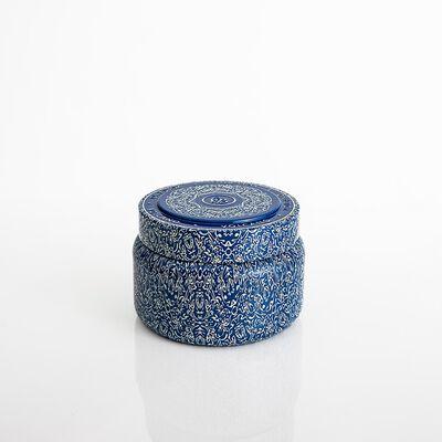 Volcano Blue Vintage Tin
