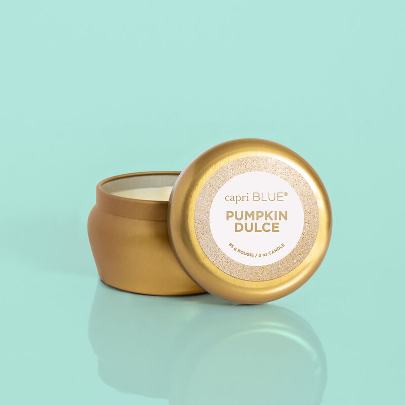 Pumpkin Dulce Glam Mini Candle, 3oz Product with Lid image number 2