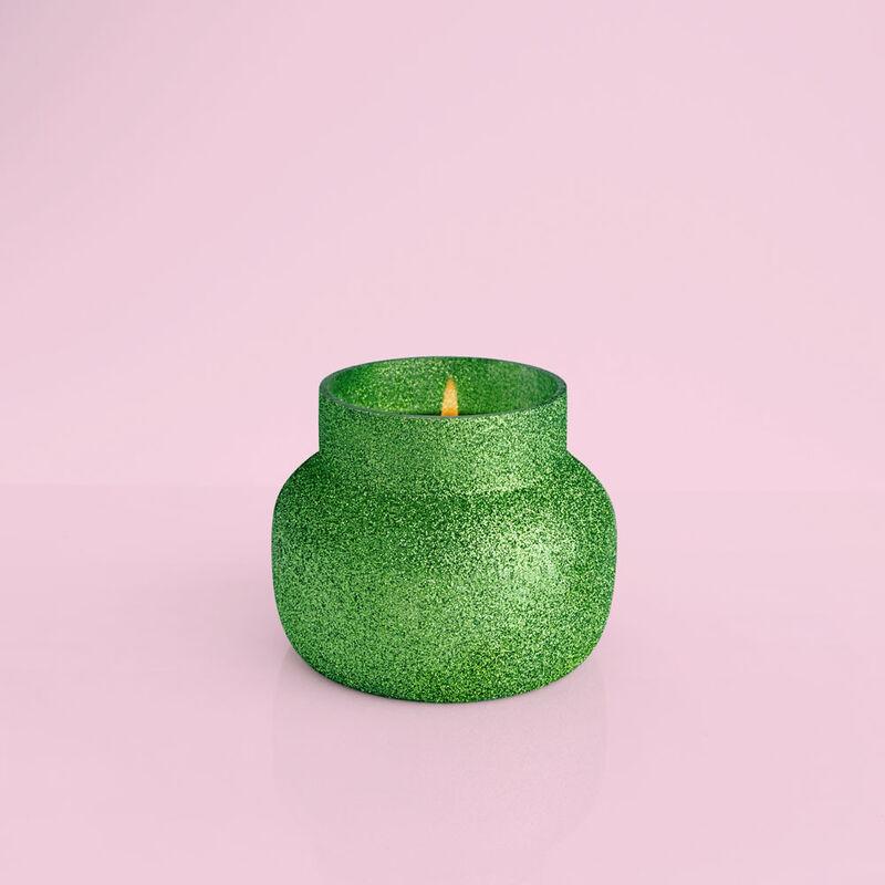 Alpine Juniper Glam Petite Jar, 8 oz product when lit image number 2