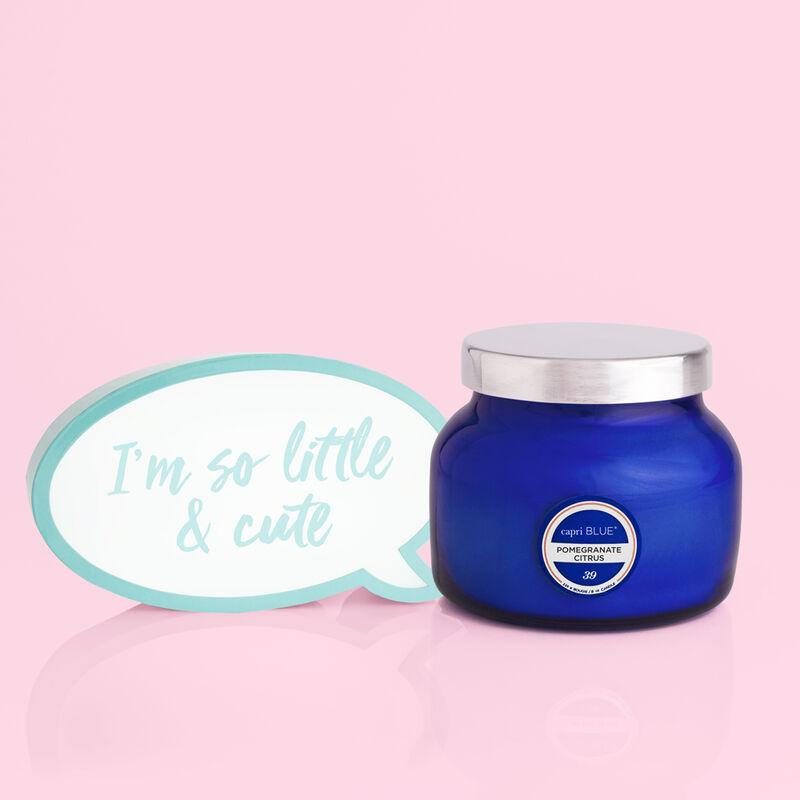 Pomegranate Citrus Blue Petite Candle Jar Fun image number 2