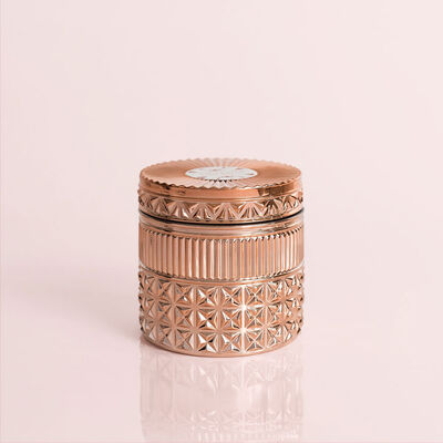 Pink Grapefruit & Prosecco Gilded Faceted Candle Jar, 11 oz Candle with Lid Alt Shot