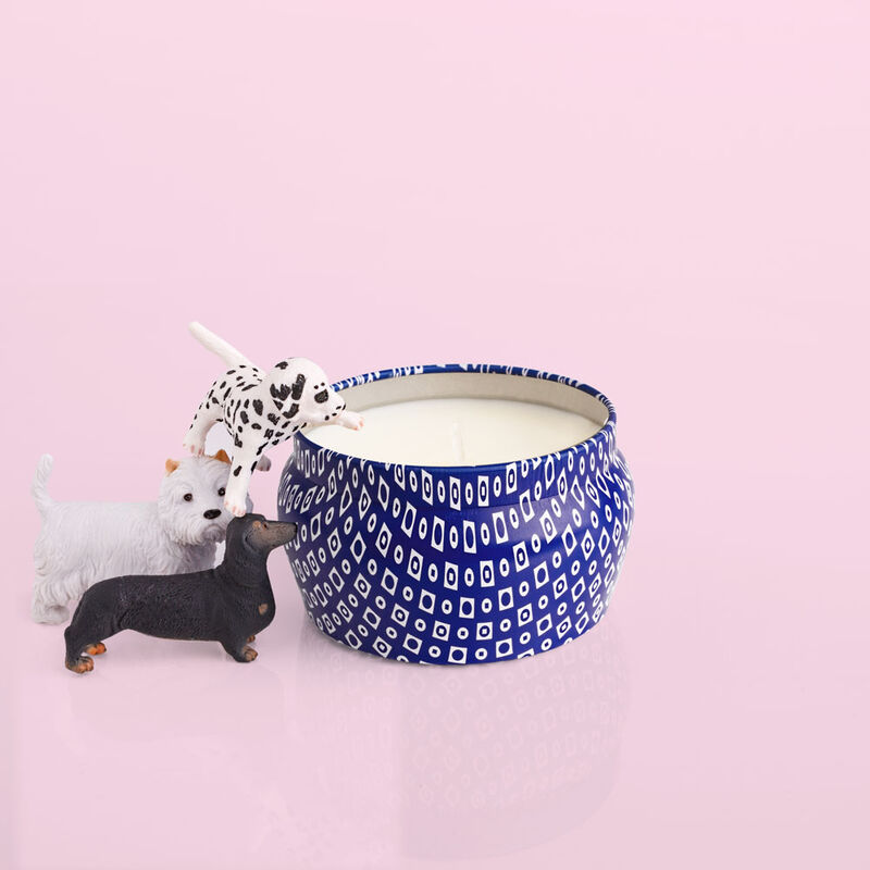 Havana Vanilla Blue Mini Cute Candle product with puppies image number 3