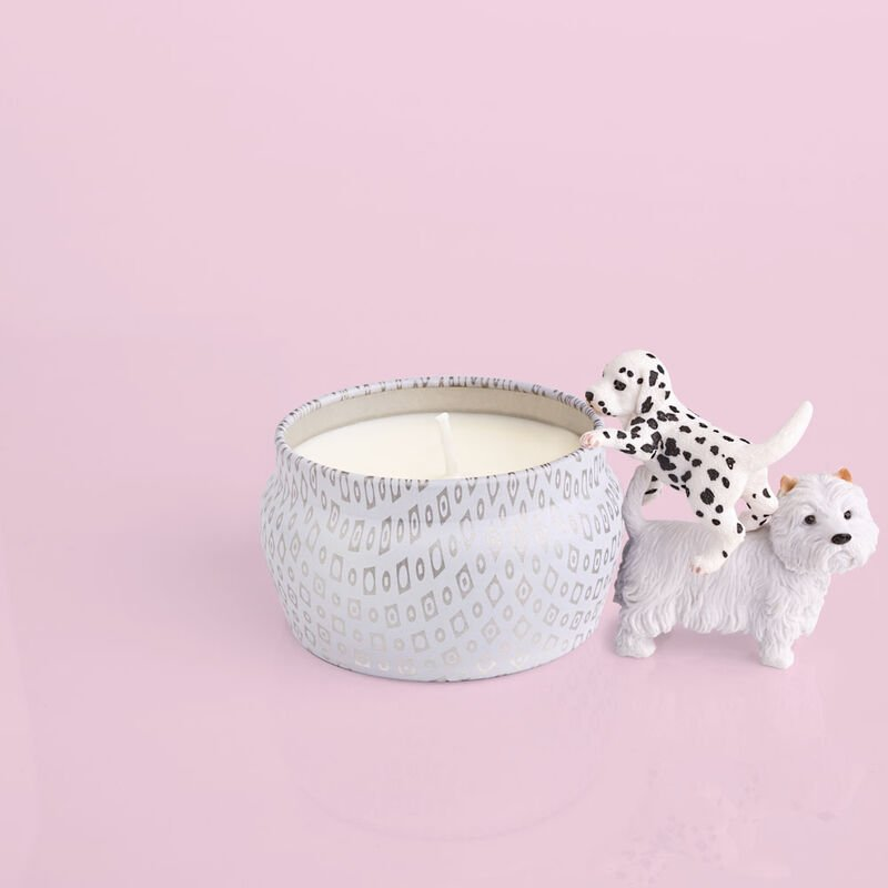Volcano White Mini Tin, 3 oz product with puppies image number 3