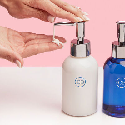 Blue Jean Sink Set Hand Wash and Lotion Duo with Hands