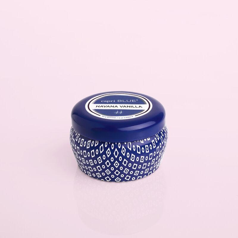 Havana Vanilla Blue Mini Candle Tin, 3oz product view image number 0
